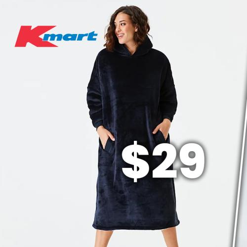 Kmart Drops A 'Hooded Blanket' & It Looks VERRRRY Similar As One That's 4x The Price