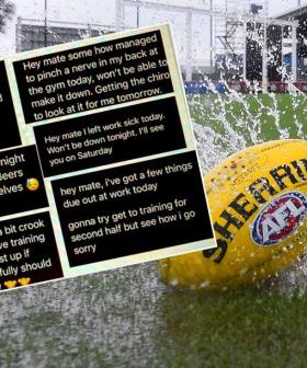WA Amateur Footy Coach Shares His Players Cheeky Excuses To Skip A Rainy Night At Training