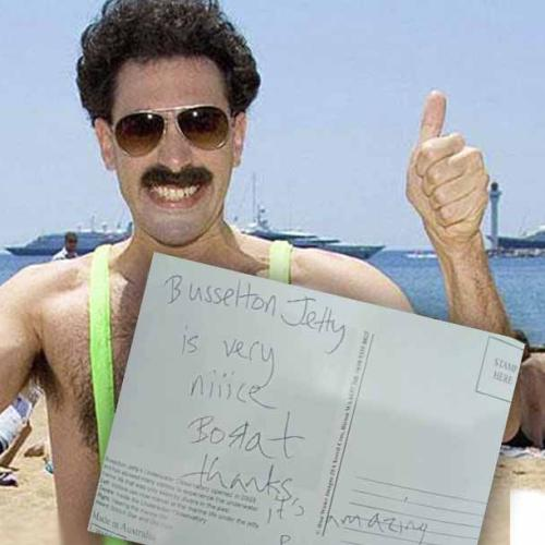 Borat Visited Busselton Jetty & Thought It Was 'Very Niiice'