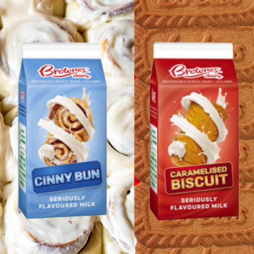 Brownes Has Sneakily Made Caramilk, Biscoff & Cinnabon Flavoured Milks & We're Impressed