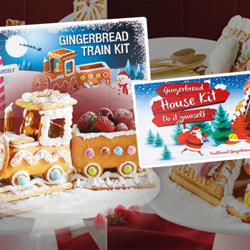 DIY Gingerbread House & Train Kits On Sale At ALDI Next Week!